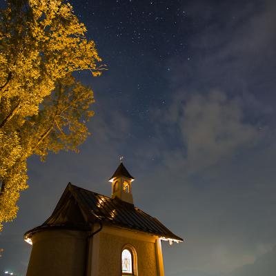 chapel at night